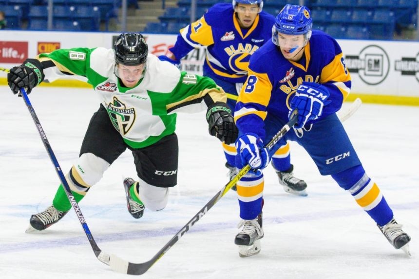 Blades Trade Cameron Hausinger to Red Deer