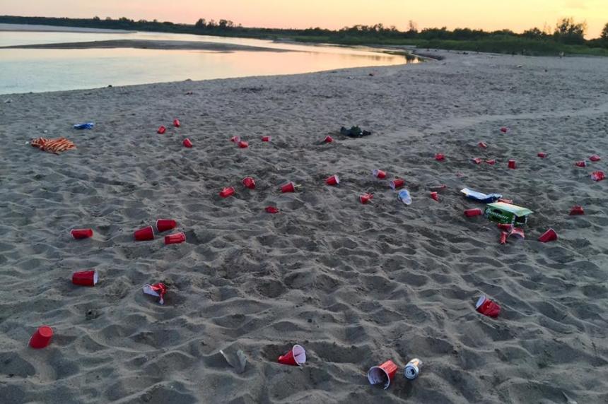 'Bare Ass' trashed: popular Saskatoon beach left a mess