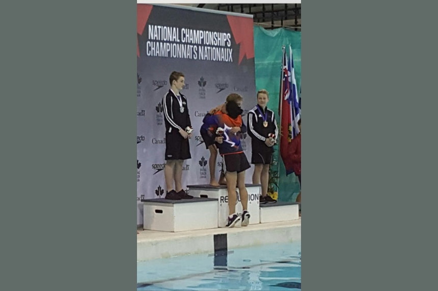 Saskatoon diver hits perfect score at Junior Nationals