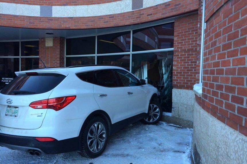 Elderly driver crashes into Regina General Hospital