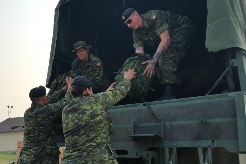 Sask. reservists arrive in Prince Albert for wildfire training