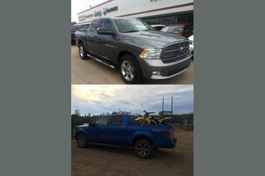 Fort McMurray couple has trucks filled with belongings stolen in Saskatoon