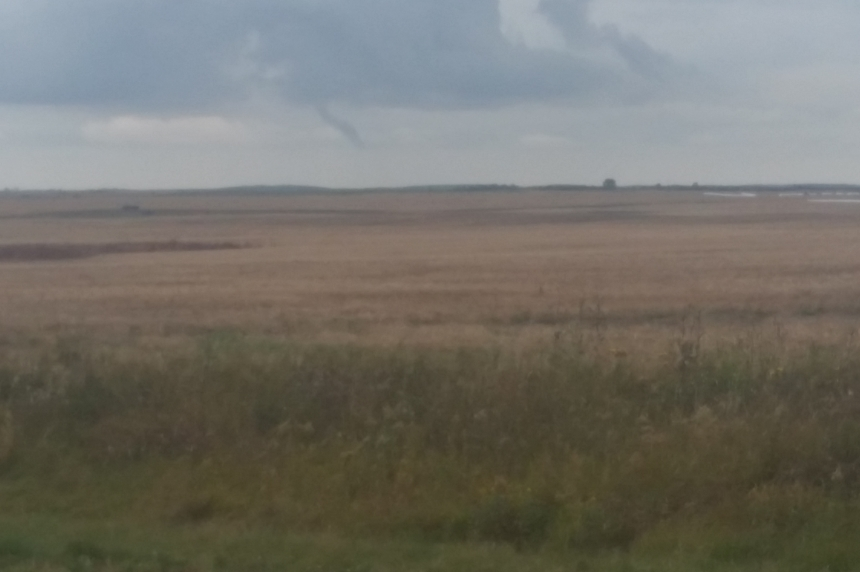 Funnel cloud spotted southwest of Pangman, Sask.