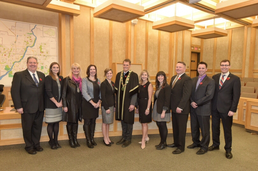 Saskatoon's new mayor and council sworn in at City Hall
