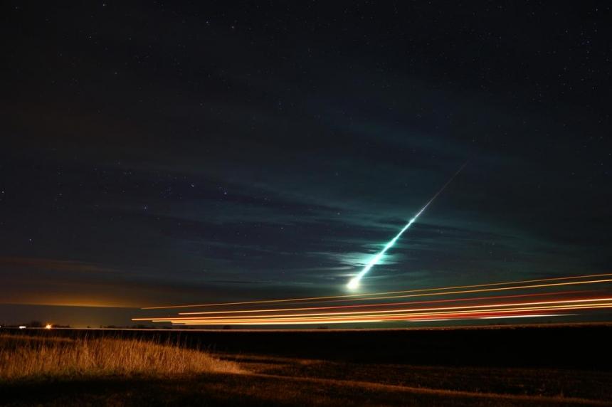 Meteor lights up Sask. sky