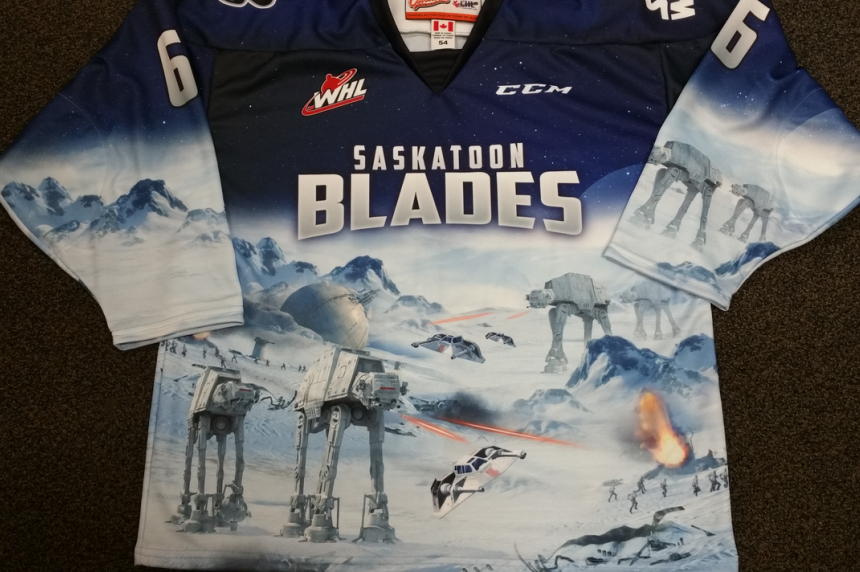 Saskatoon Blades reveal Star Wars hockey jersey