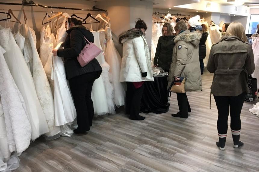 Saskatoon bridal shop blows out dresses