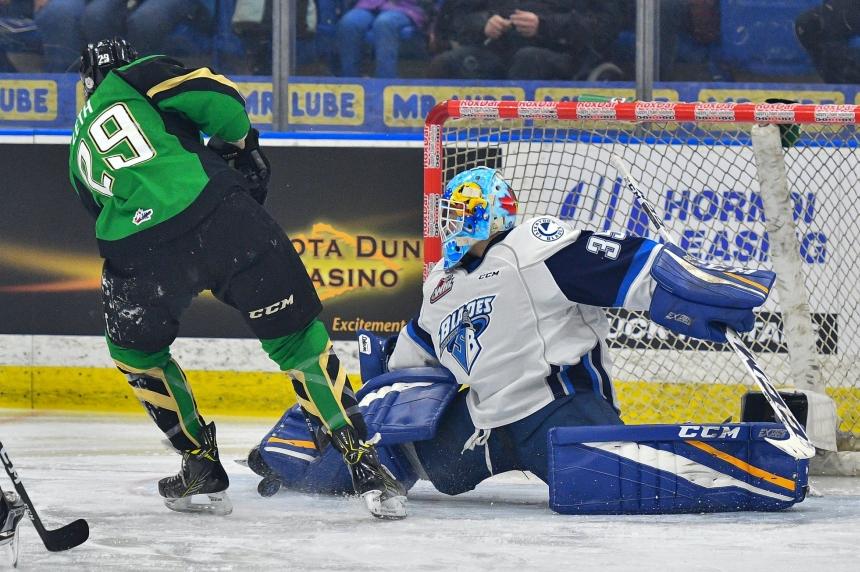 Blades go down swinging in win over Prince Albert