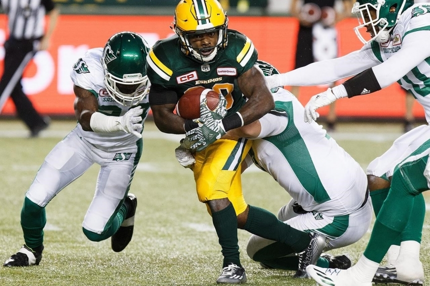 Riders show signs of life in 33-25 loss to Eskimos