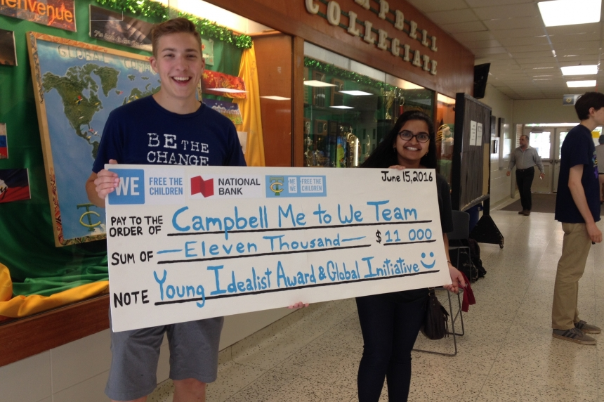 Regina high school students win Young Idealist Award