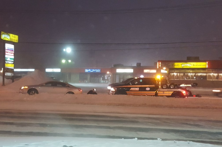 Drivers report poor visibility, slippery conditions Tuesday morning