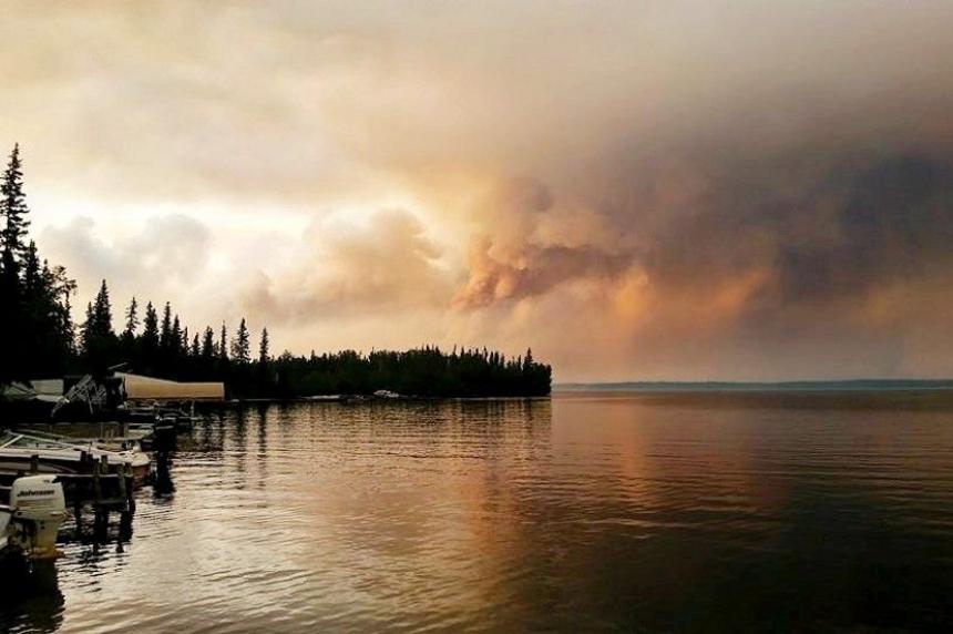 Heavy smoke helps crews make gains against Saskatchewan wildfires
