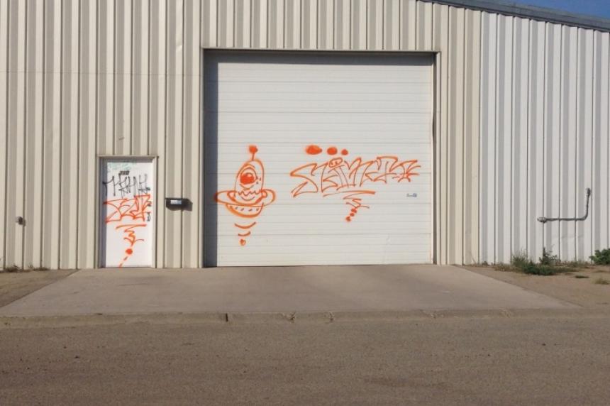 Vandals tag 17 spots on grafitti spree in Moose Jaw