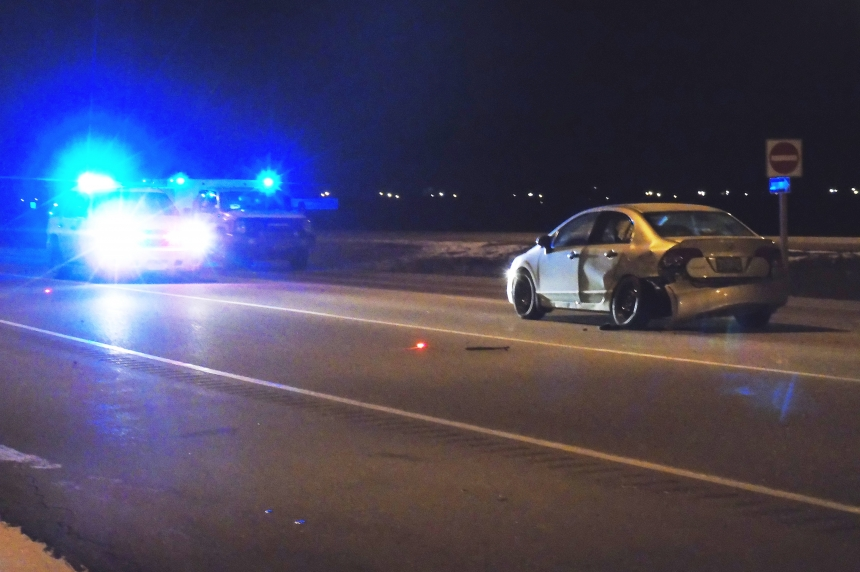 Suspect nearly hits officer during chase north of Saskatoon: police
