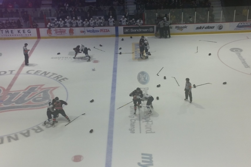 Blades loss breaks out at a boxing match with Regina