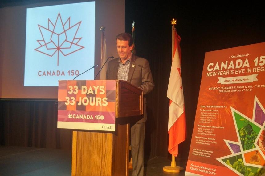 Regina announces New Year's Eve celebration to kick-off Canada's 150th anniversary