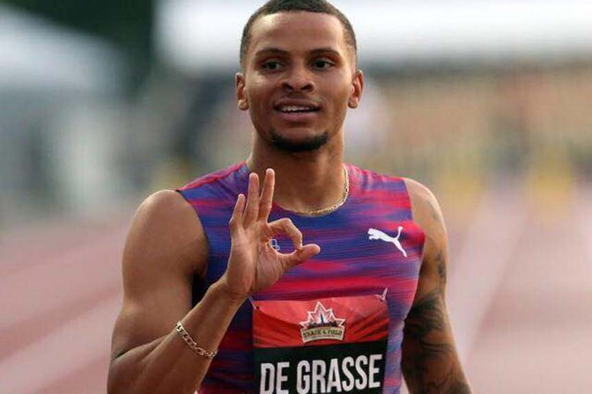 Loss of injured Andre De Grasse is a big blow to Canadian track and field fans