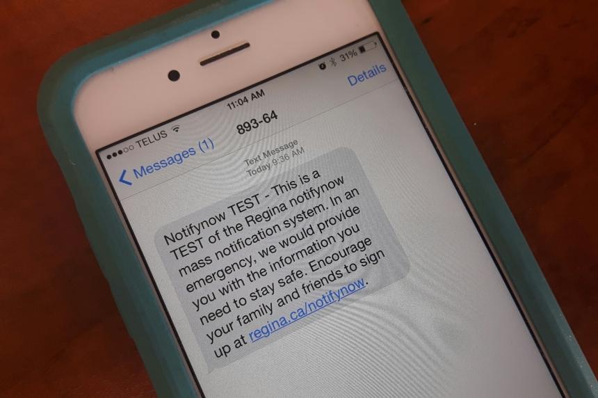 Test of Regina's emergency alert system delayed due to server crash