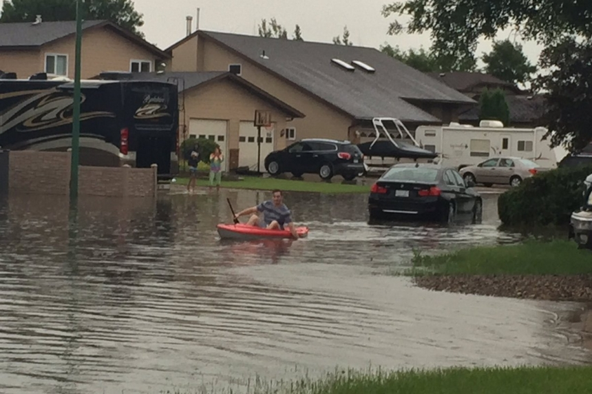Estevan cleaning up after flash flooding Sunday