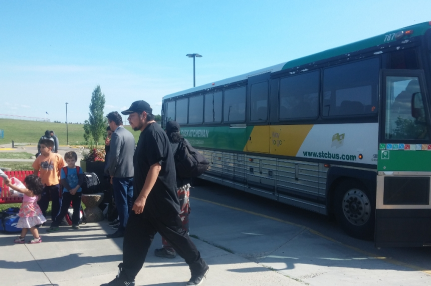 PHOTOS: Sask. fire evacuees arrive in Cold Lake, Alta.