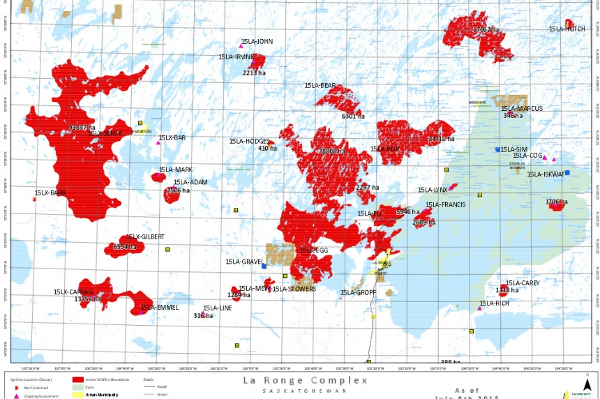 Wildfire map shows latest fire changes