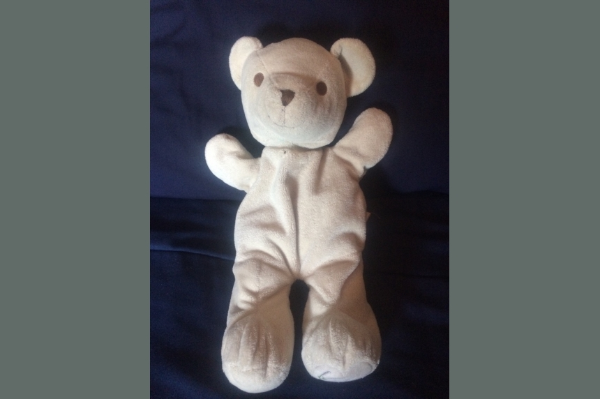 A Manitoba truck driver is searching for the owner of a lost teddy bear