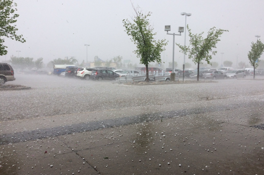Short hailstorm leaves trail of damaged vehicles