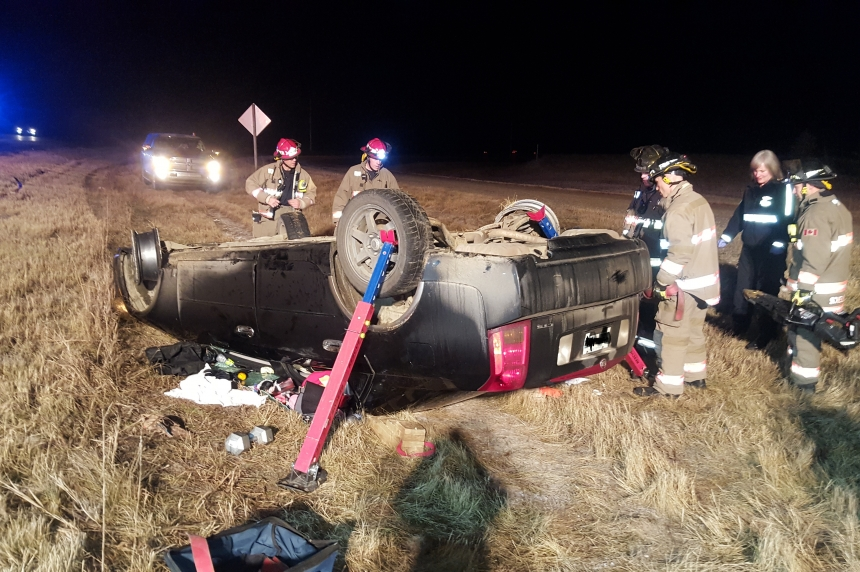 Rollover near Beaver Creek, Sask. sends woman to hospital