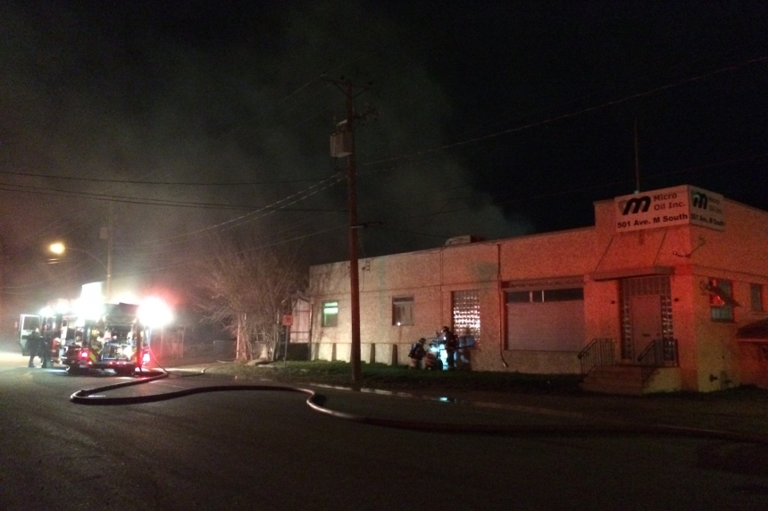 Smoke and fire fill a business on Avenue M