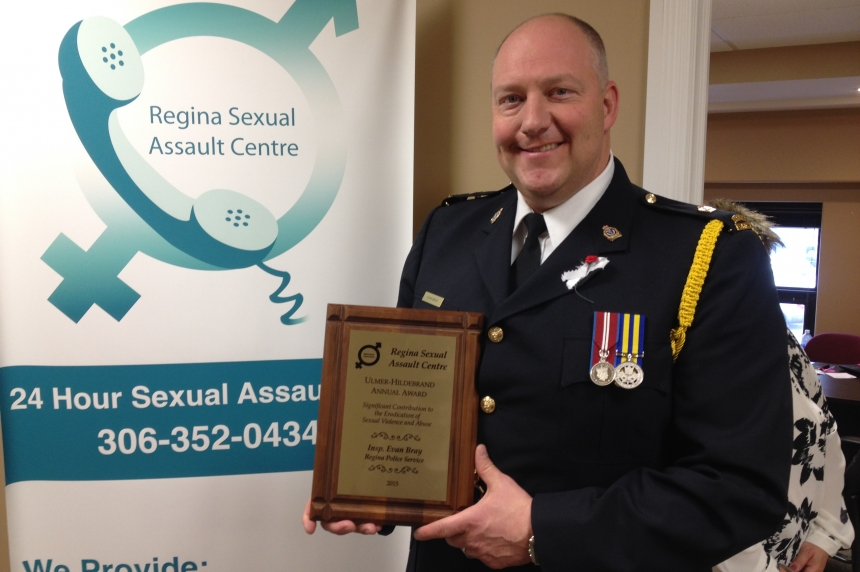 Officer honoured by Regina Sexual Assault Centre