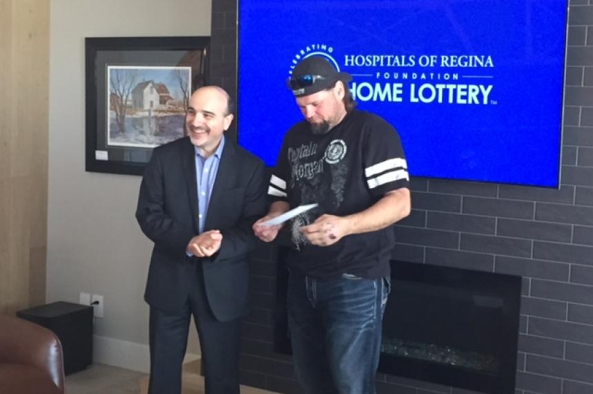 Vibank man wins Hospitals of Regina Foundation home lottery
