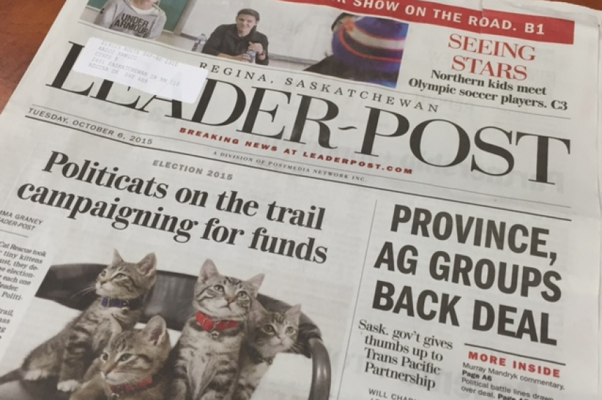 UPDATE: Regina Leader-Post to be printed in Saskatoon