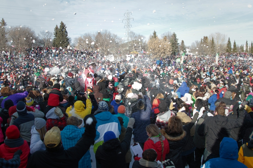 Saskatoon's massive snowball fight likely to break world record