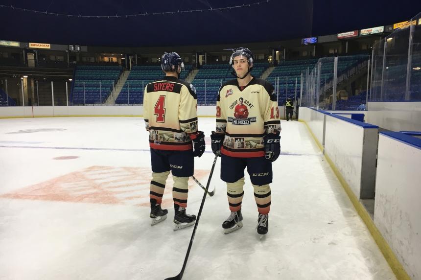 Blades unveil Mr. Hockey special jerseys ahead of Sundays homeopener