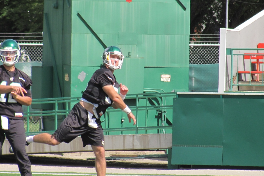 Rider quarterback Brett Smith's bye week mixed work with relaxation