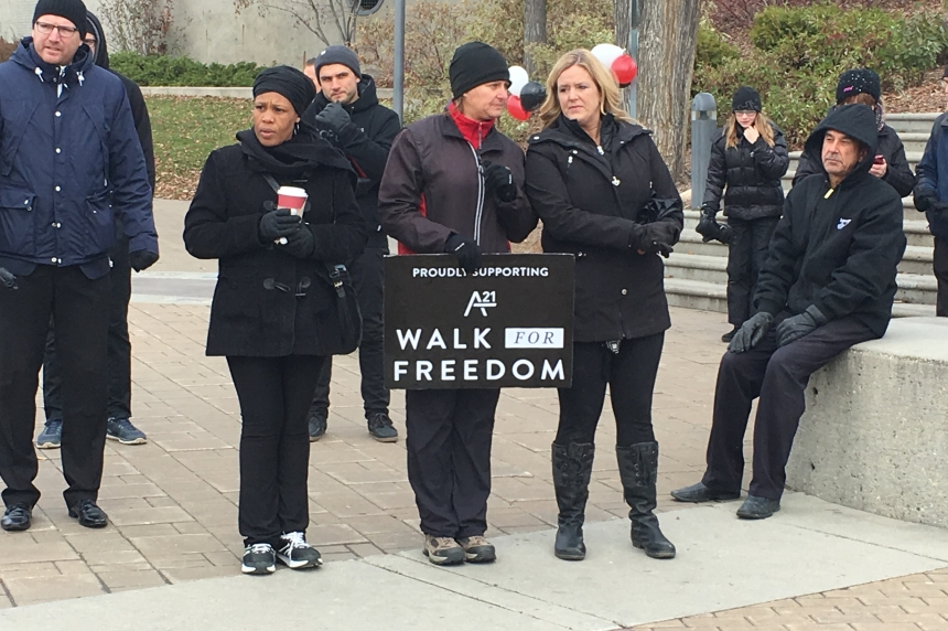 Walk in Saskatoon wants to end human trafficking in the city