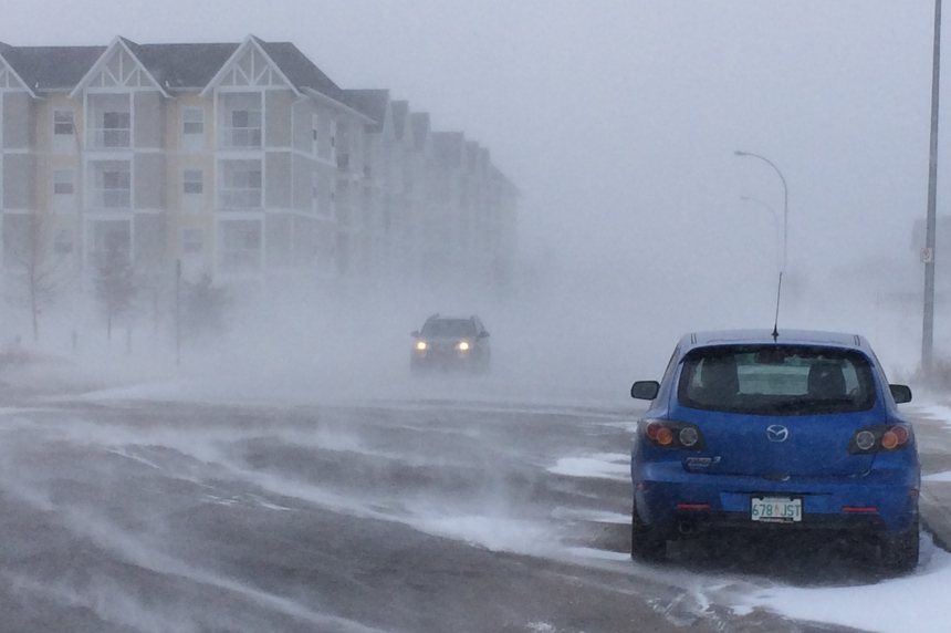 Blizzard wallops Regina, eastern Sask. for second day