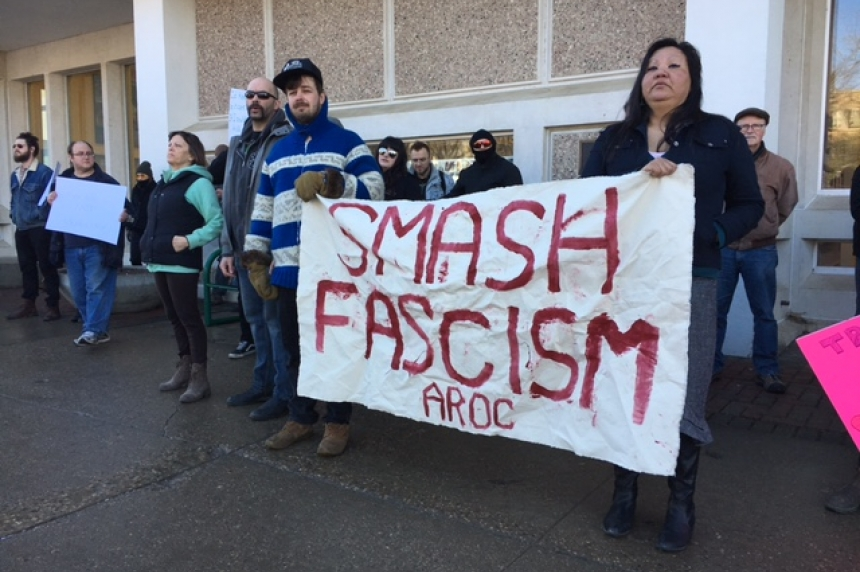 Protestors clash in Saskatoon in favour and against Motion 103