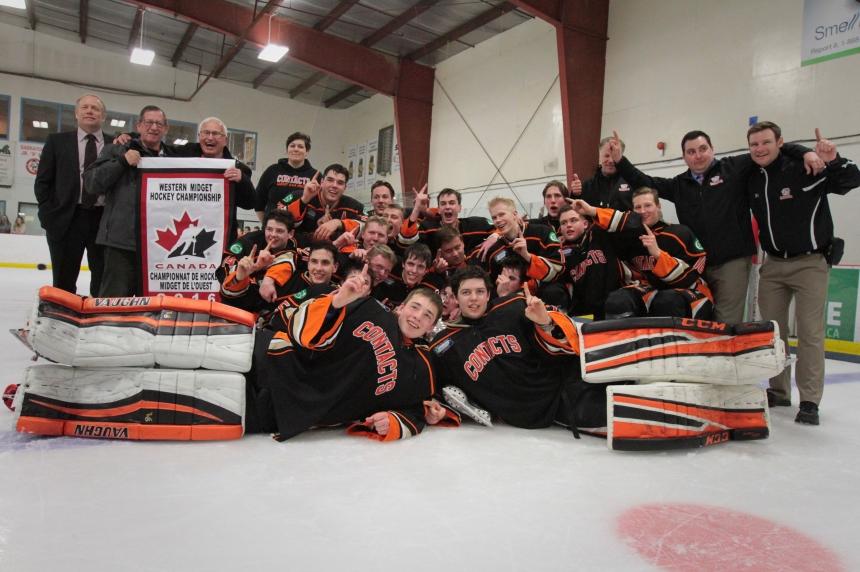 Saskatoon Contacts beat Winnipeg Wild 4-3 for Telus Cup Western Regional Final