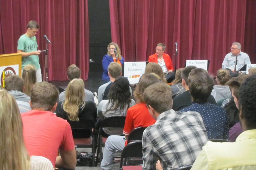 From the campaign trail to the classroom: Candidates meet with Regina high school students