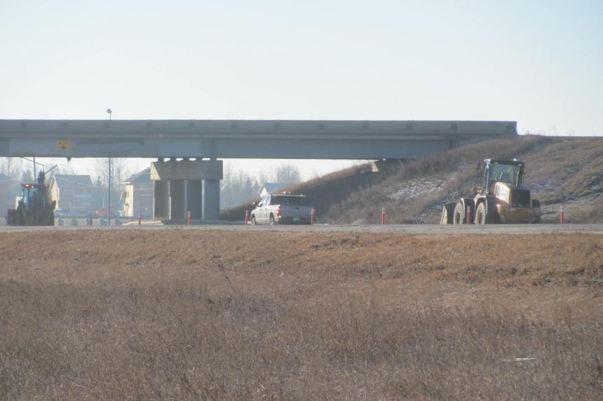 Highway 11 overpass north of Regina back open