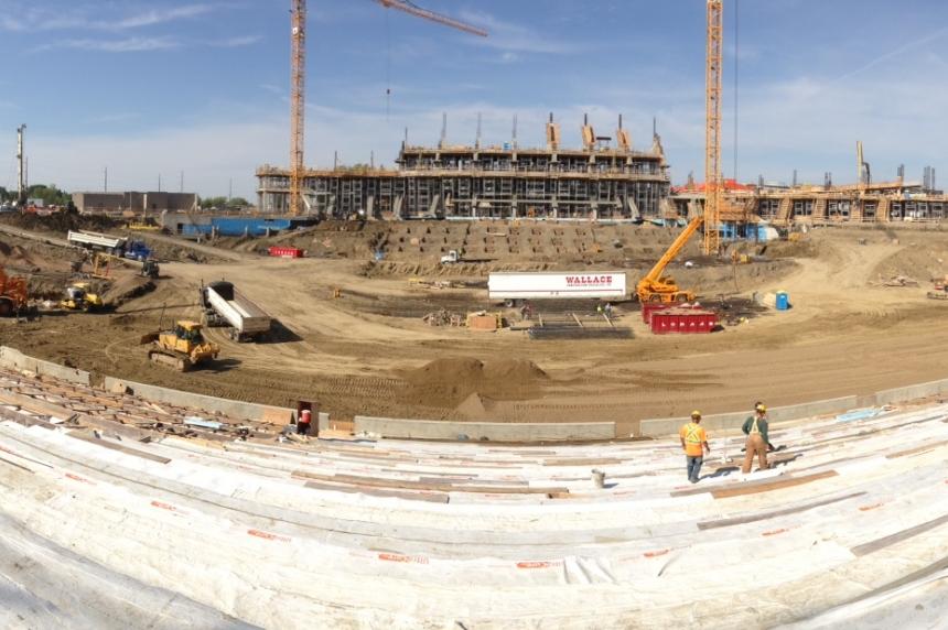 New Mosaic Stadium 54 per cent complete