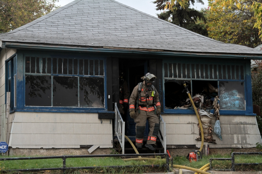 Caswell Hill house fire shuts down section of Idylwyld