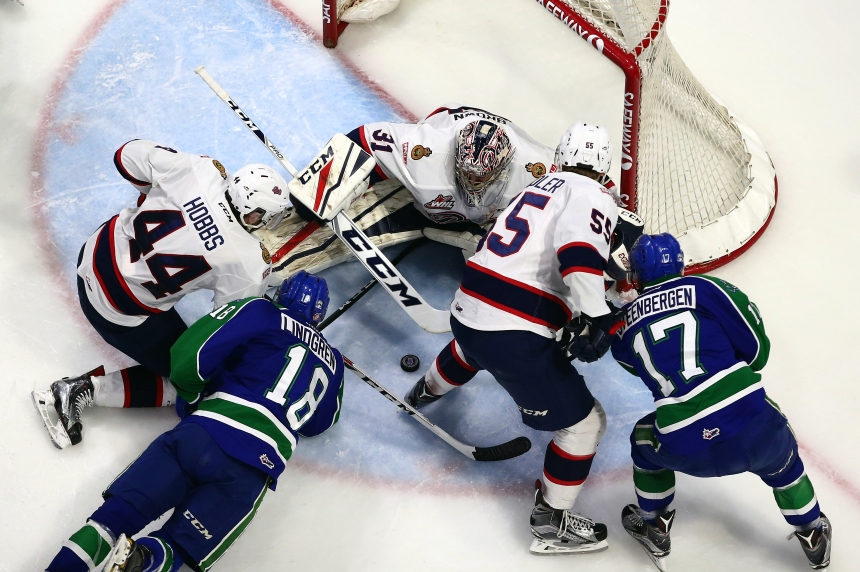 Broncos edge Pats 2-1 in overtime in Game 1