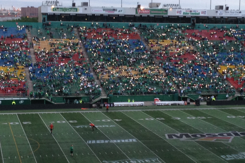 Confetti cannon causes power outage at Mosaic Stadium