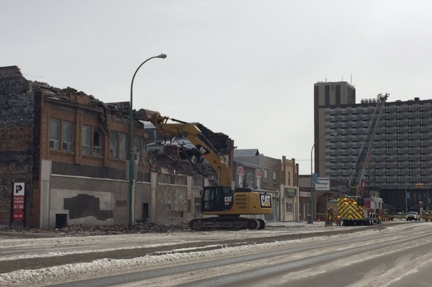 Firefighters had early indication the Travellers Building in Regina was a loss