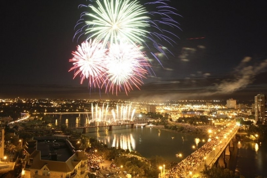 Saskatoon lighting up sky to kick off of Canada's 150th birthday