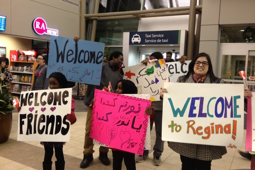 1st Syrian refugee family gets warm welcome in Regina