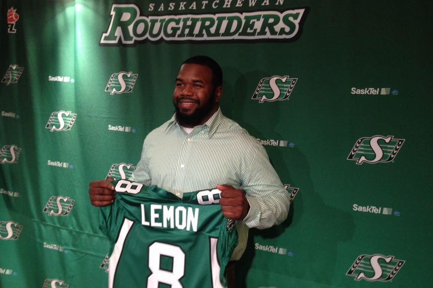 Riders deal Shawn Lemon to Toronto for QB, offensive lineman