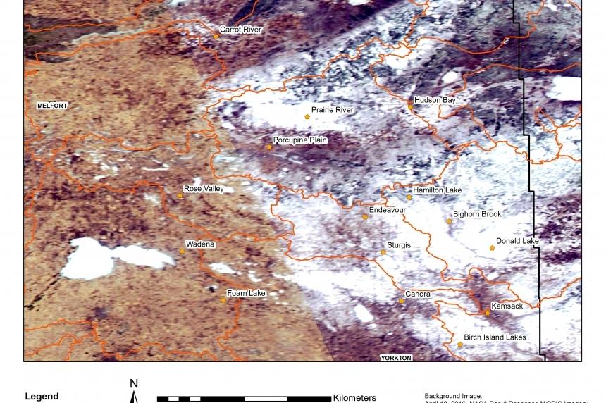 Rapid melt causing flooding near Canora, Sask.